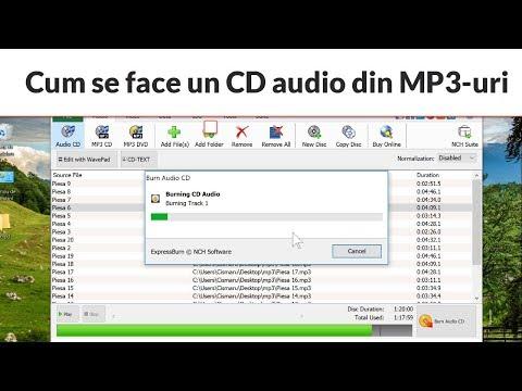 Cum se face un CD audio (track) din MP3