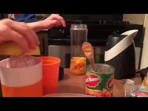 Juicing and blending fruits to make fresh juice