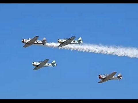 Engine Start-Up Condor Squadron North American T-6 Texan (SNJ) Long Beach Airport Festival
