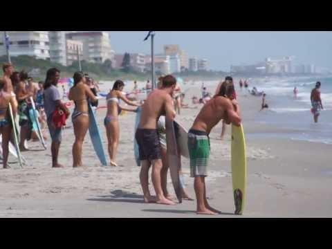 Skimboard Indialantic Florida Boardwalk - Skimboarding, Skim 6/15/13 - Melbourne Beach, HD / HQ