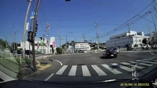 赤信号無視。 老害運転 事故多発地域 松本市 白坂 国道19号線