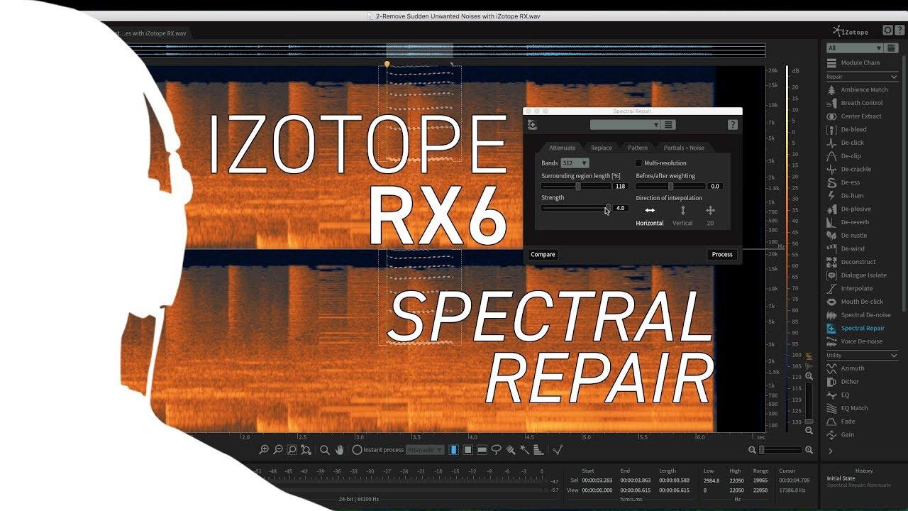 iZotope RX6 - Using Spectral Repair