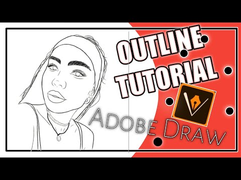 HOW TO DO A CARTOON OUTLINE TUTORIAL 2019 | ADOBE DRAW thumbnail