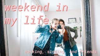 Summer Weekend in My Life //Singing Live, Working, and Photoshoots