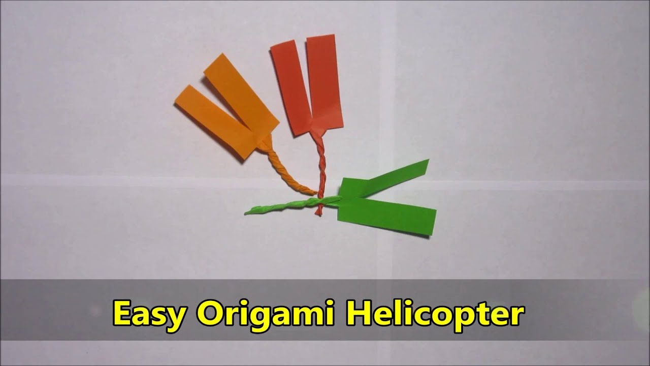 easy origami helicopter youtube