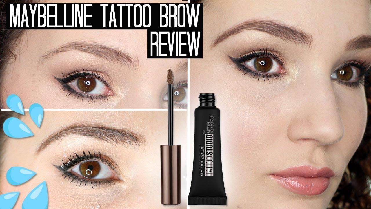 Maybelline Tattoo Studio Brow Gel Review & Waterproof Test - YouTube