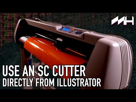 How To Use an USCutter SC Vinyl Cutter Directly From Illustrator