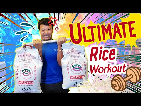 The ULTIMATE Rice Workout! Exercise At Home With FOOD!