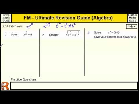 Index Laws - Ultimate revision guide for Further maths GCSE
