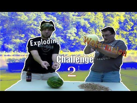Exploding Watermelon Challenge 2 [w/ Snake Adelic]