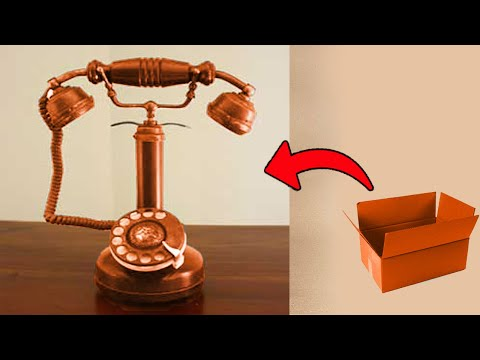 DIY Miniature Old Fashioned Retro Phone From Waste old phone dialer,