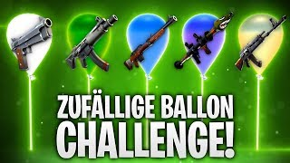 ZUFÄLLIGE BALLON CHALLENGE! 🎈💣 | Fortnite: Battle Royale