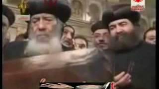 البابا شنوده وتطييب رفات مارمرقص