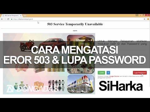 DONGADAS TV: Cara Mengatasi 503 Service Temporarily