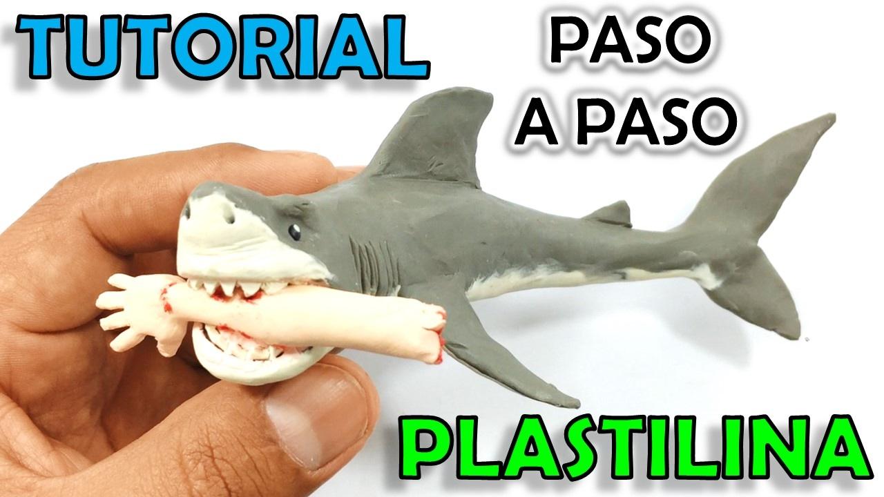 Como hacer un tibur n asesino pel cula jaws de plastilina - Como hacer un estor enrollable paso a paso ...