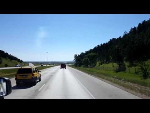 Bigrigtravels Live! Rapid City to Belvidere,  South Dakota on Interstate 90 June 16, 2016