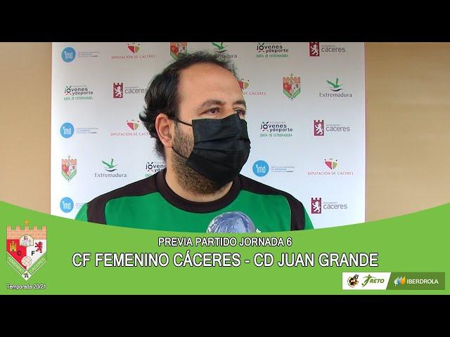 Liga #RetoIberdrola 20/21. Previa jornada 6ª: CF FEMENINO CÁCERES - CD JUAN GRANDE