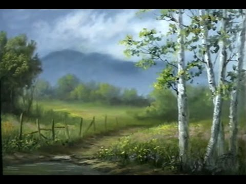 Live Painting Video 1+ hour! - Soft Birch Trees - 10/21/16
