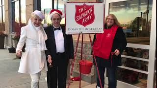 Ringing the Bell for the Salvation Army Red Kettle Drive
