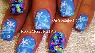 3 Nail Art Tutorials | Diy Easy Christmas Nail Art! | Snowflakes And Xmas Trees!