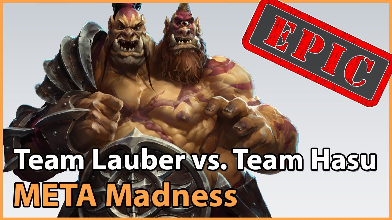 ► EPIC! Team Lauber vs. Team HasuObs - META Madness Playoffs - Heroes of the Storm Esports