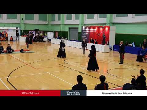 3member Ladies Team Eliminations  - CKOU A vs Singapore Kendo Club - Daihyosen