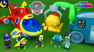 Paw Patrol Toys Rescue Captain Turbot from the PJ Masks Romeo's Lab Playset Sea Patrol Sub Patroller