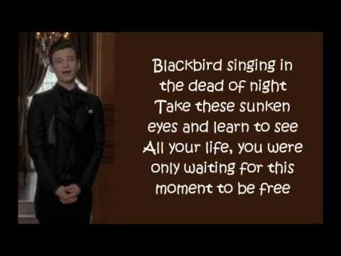 Glee  Blackbird lyrics