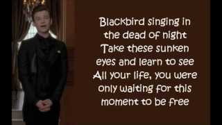 Download Glee - Blackbird (lyrics) MP3 song and Music Video