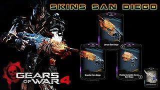 "Gears of War 4 l1ra. Partida Debut l Skins ""SAN DIEGO"" l Canjea tus retro lancer y + l 1080p"