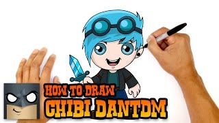 How to Draw DanTDM (Diamond Minecart)- Simple Art Lesson
