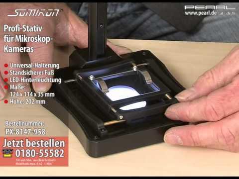 Somikon profi stativ für mikroskop kameras youtube