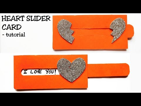 Heart Slider Card Tutorial || Love Slider Card Tutorial || Card Making Idea