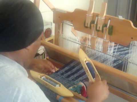 Weaving on Ashford Table Loom