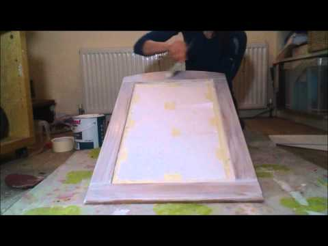 How to Paint a Wooden Mirror in a Shabby Chic Style Tutorial VIKKIE'S VINTAGE