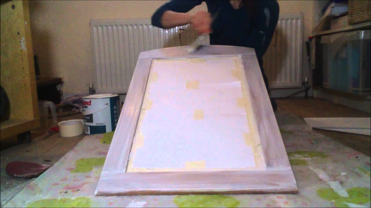 How to Paint a Wooden Mirror in a Shabby Chic Style Tutorial ...