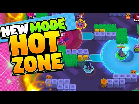 New Game Mode HOT ZONE With RANDOM BRAWLERS   Brawl Stars Update