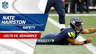 Nate Hairston Takes Down Russell Wilson for the Safety 🙏   Colts vs. Seahawks   NFL Wk 4 Highlights