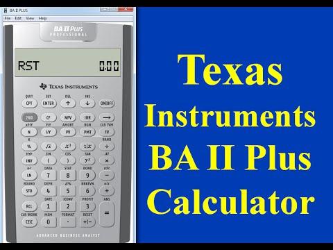Texas Instrument BA II Plus Professional calculator- PART I