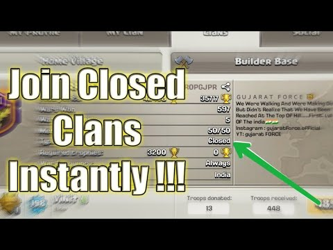 Join Closed Clans Easily || Clash Of Clans