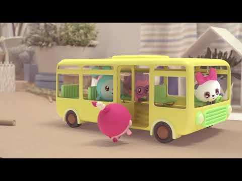Малышарики - Новые серии - «Колеса у автобуса крутятся» - Развивающие мультики для самых маленьких