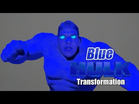 Blue Hulk Transformation In Real Life!