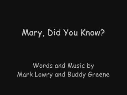Mary, Did You Know -with lyrics Piano Cover