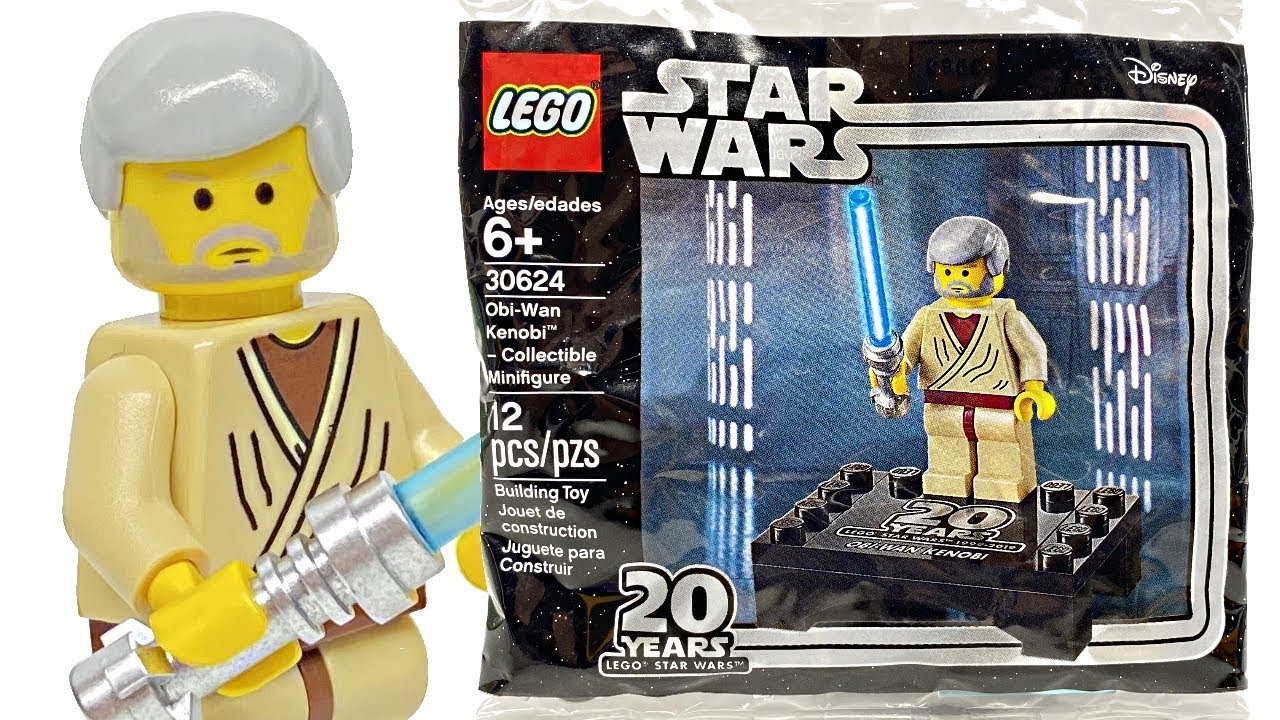 LEGO Star Wars Obi-Wan Kenobi 20th Anniversary Minifigure POLYBAG NEW 30624