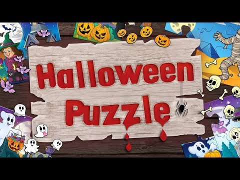 Halloween Jigsaw Puzzles for Kids - App Gameplay Video