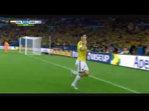 James Rodríguez Amazing Goal ( Colombia 2 Uruguay 0 )