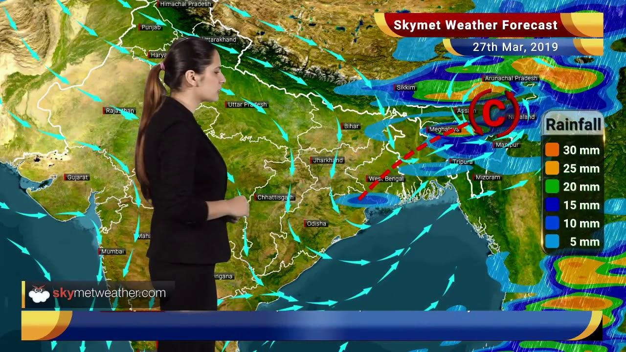 Weather Forecast March 27: Rain in Kolkata, Kerala, Dry weather in Delhi,  Hyderabad   Skymet Weather