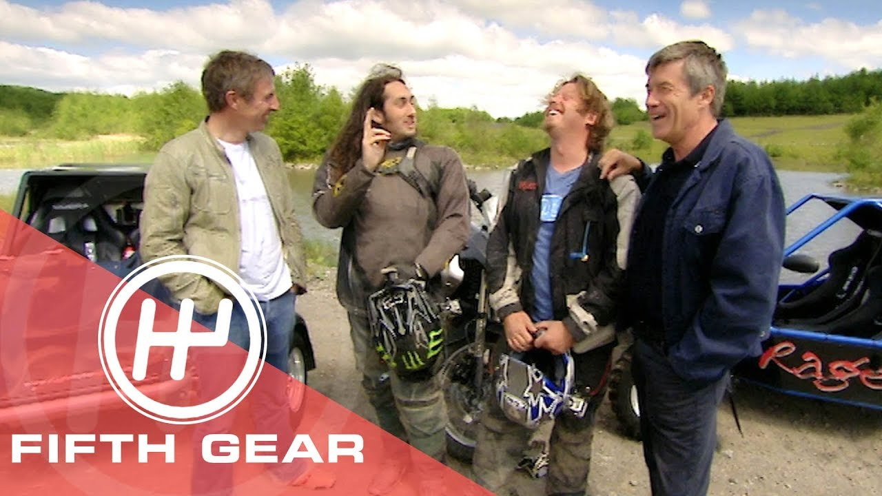 Fifth Gear: 4 Wheel Vs 2 Wheel Off-Road Challenge With Ross Noble & Charley Boorman