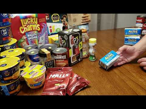 September Discount Grocery Haul - Amish salvage store 64 items for $65