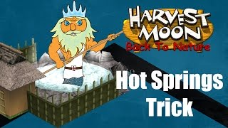 Harvest Moon Back to Nature Guide | Hot Springs Trick | Carbon Knights